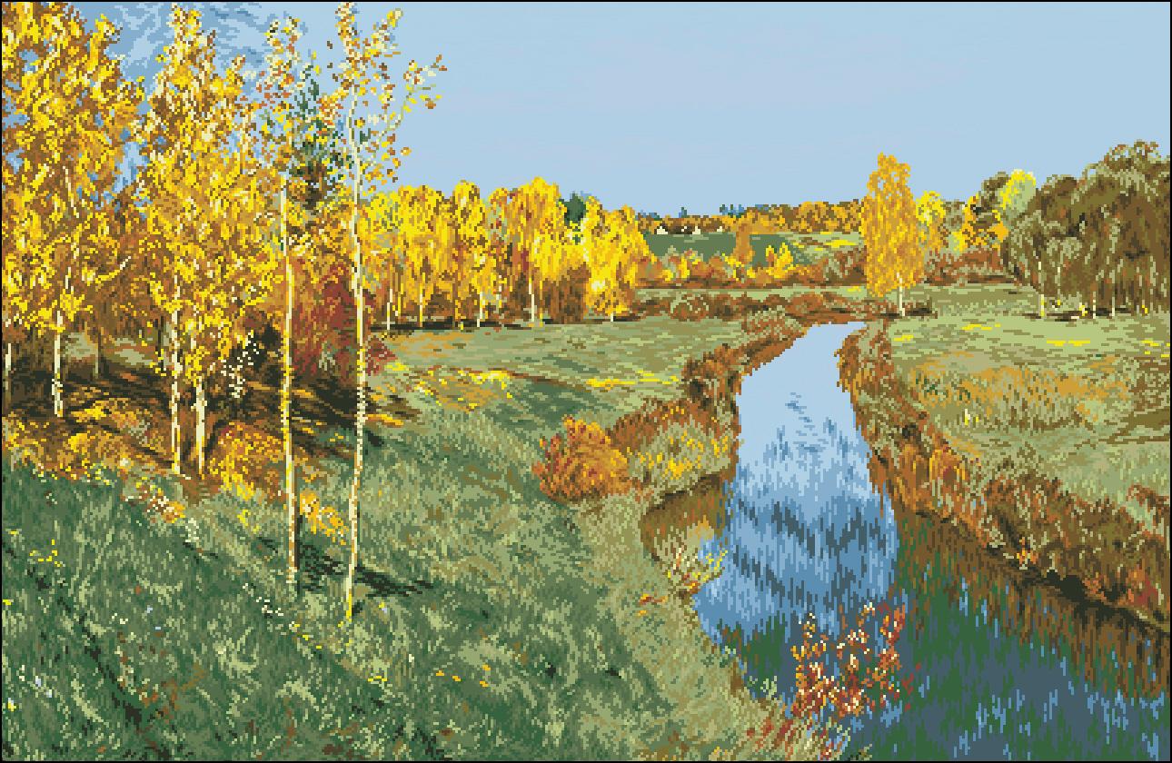 Золотая осень фото картины левитана 3